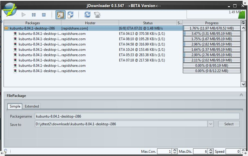 JDownloader open source download manager