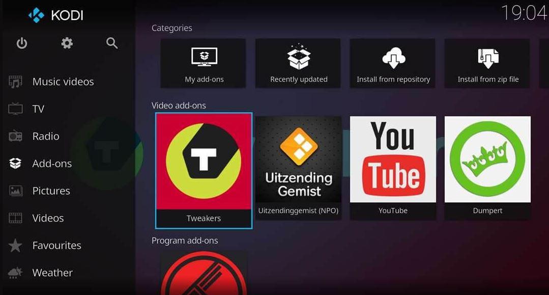 Kodi video add ons