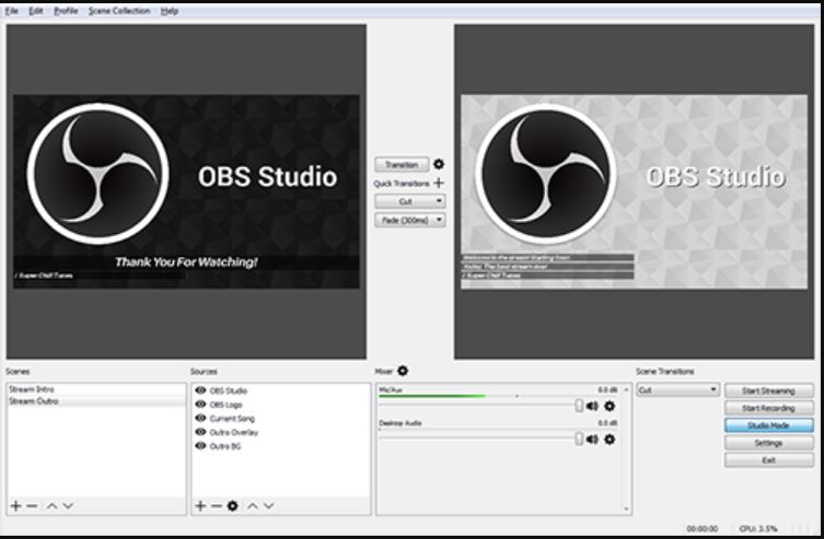 OBS Studio (Open Broadcaster Software) screen recording windows 10