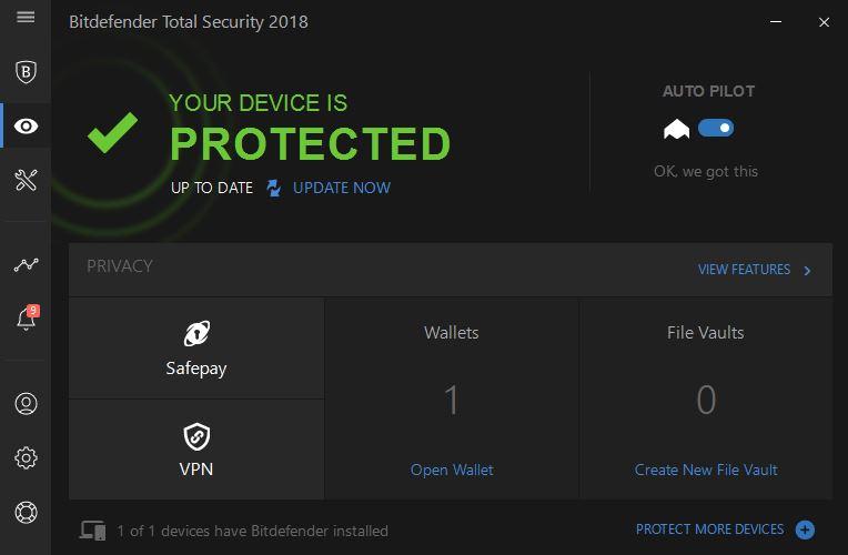 Privacy Bitdefnder Total security