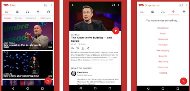 TED talks best app for collage students