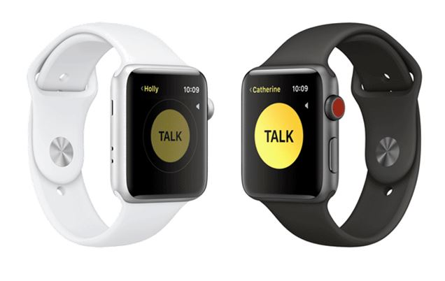 Walkie Talkie on Apple Watch