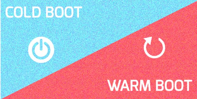 What is the difference between cold boot and warm boot