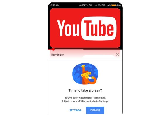 activate YouTube app Take a Break feature