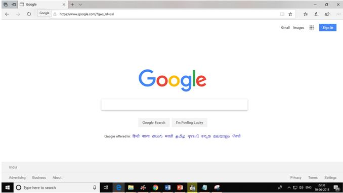 change Microsoft Edge default search engine from Bing to Google