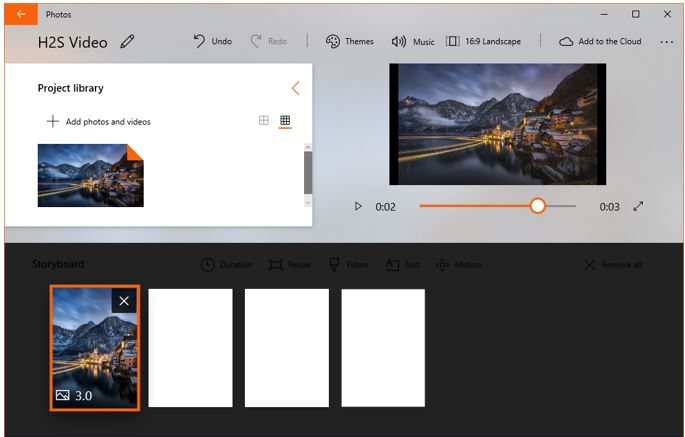 edit videos on windows 10 for free using inbuilt Photos tool