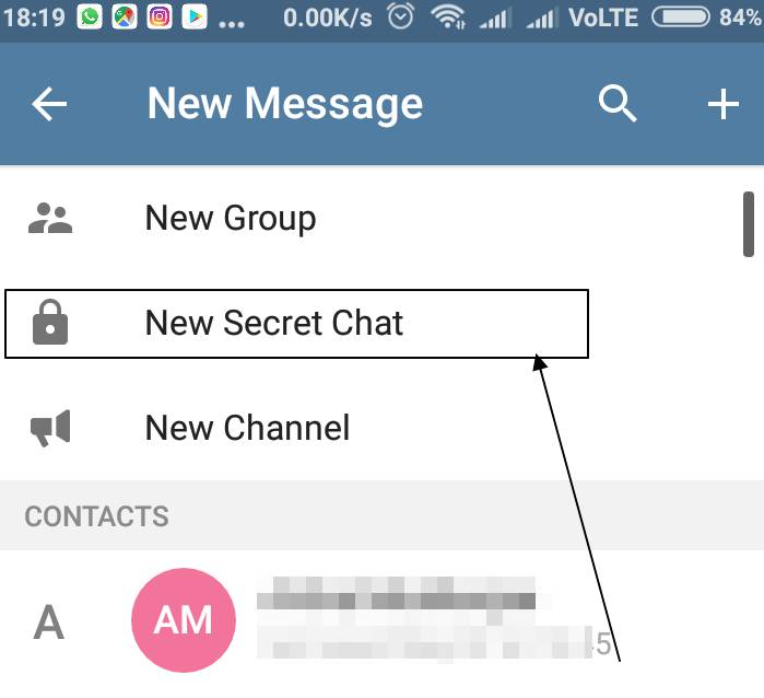 New Secret Chat'