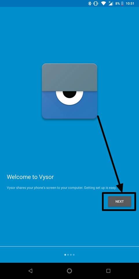 Vysor smartphone