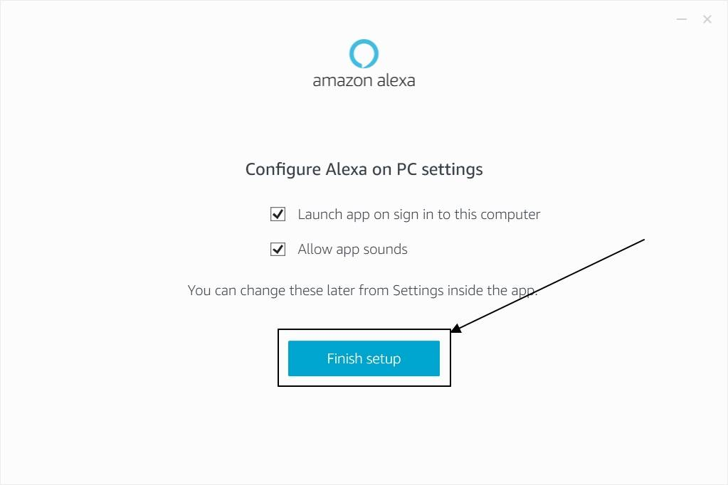 Amazon Alexa on startup