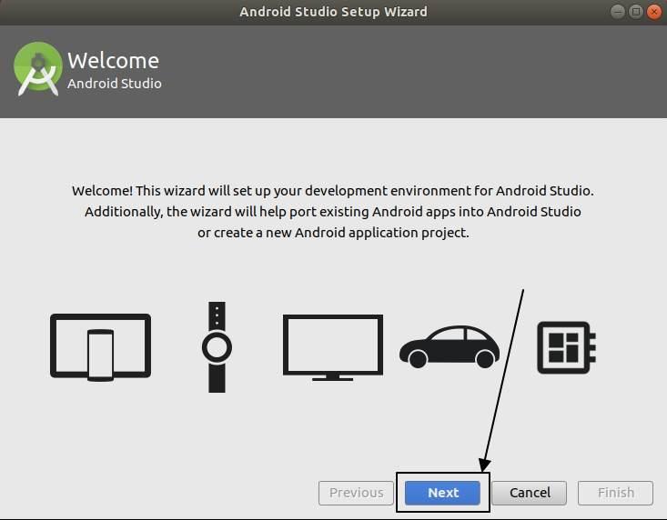 Android studio setup wizard