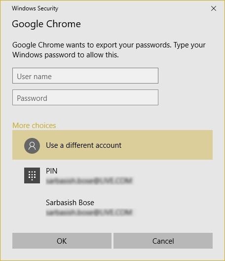 chrome import passwords csv