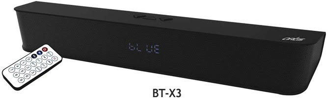 BTX3 Wireless Indoor BT Soundbar with remote