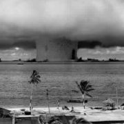 Can a nuclear bomb explosion be used to save an environmental disaster