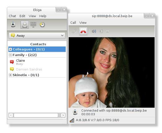 Ekiga is an open source software