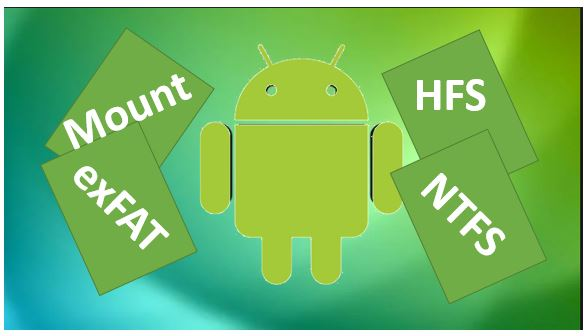 How to mount NTFS and HFS volumes on an Android device without root