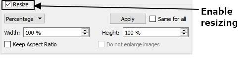 decreasing the size of the images
