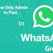 Restrict WhatsApp group chat posting to admin-only