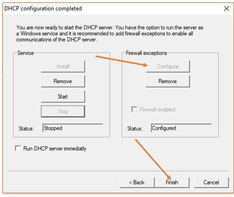Run DHCP server