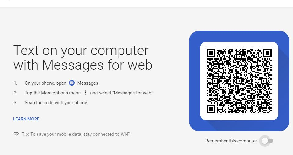 Text on your computer with Messages for web