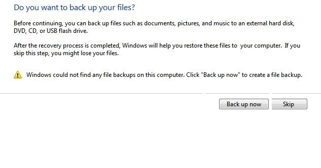 backup up your files