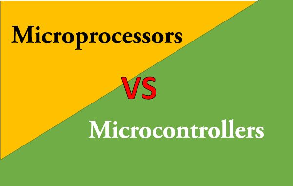 difference between microprocessors and microcontrollers