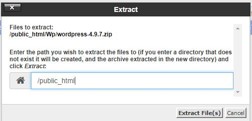 extract files