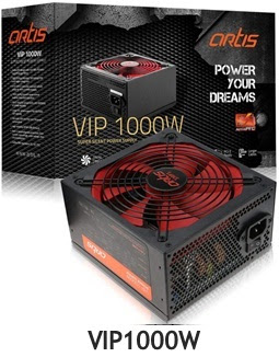 Artis VIP1000W Power Supply Unit