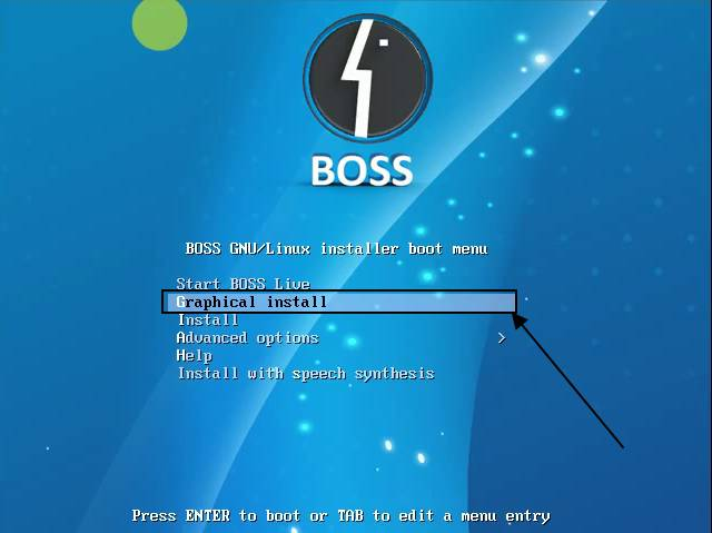 Installing BOSS OS on PC graphical