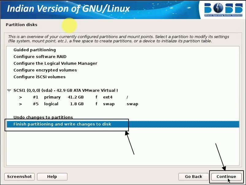 boss operating system installaltion