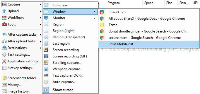 ShareX Screen recording