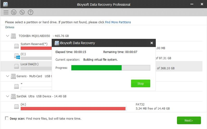 iBoysoft Data Recovery professional
