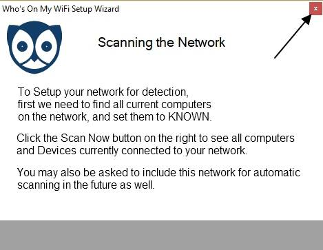 Scanning the WIfi network