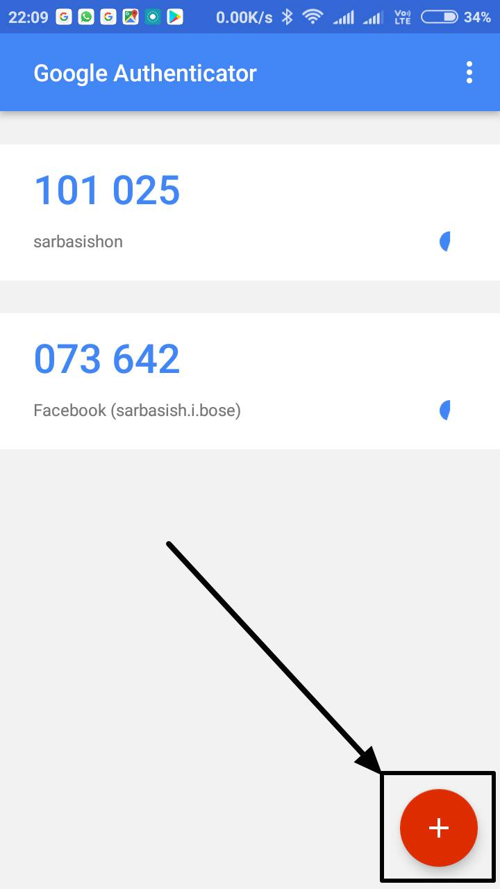 Google Authenticator app on your smartphone