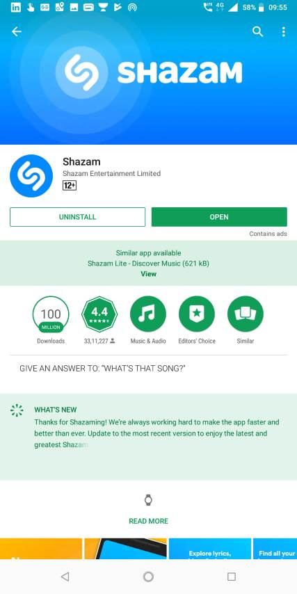 shazam online app