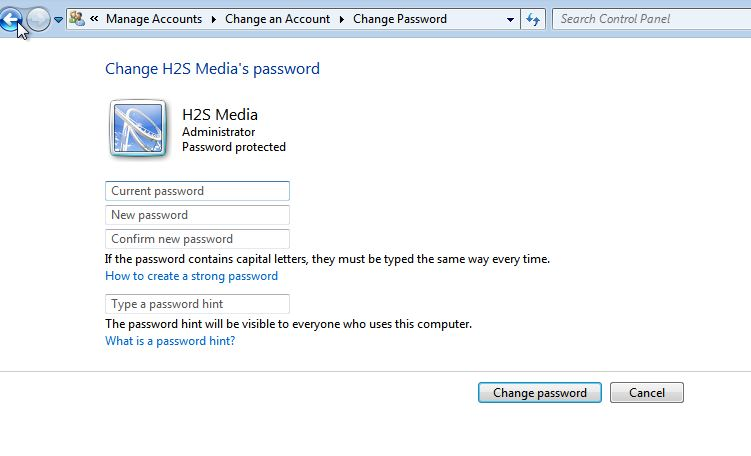 Change the password on windows 7 (1)
