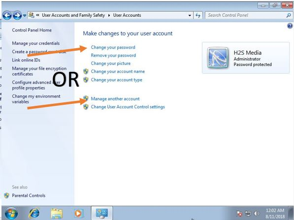 Change the password on windows 7 (3)