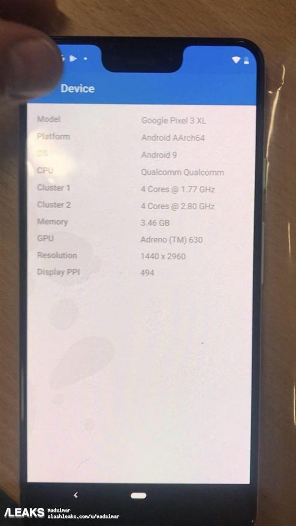 Google Pixle 3 XL leak images 7
