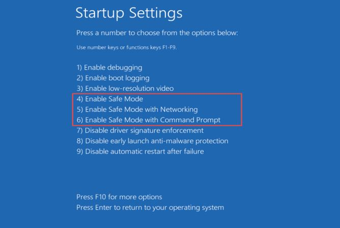 How to start windows 10 or 8 in safe mode