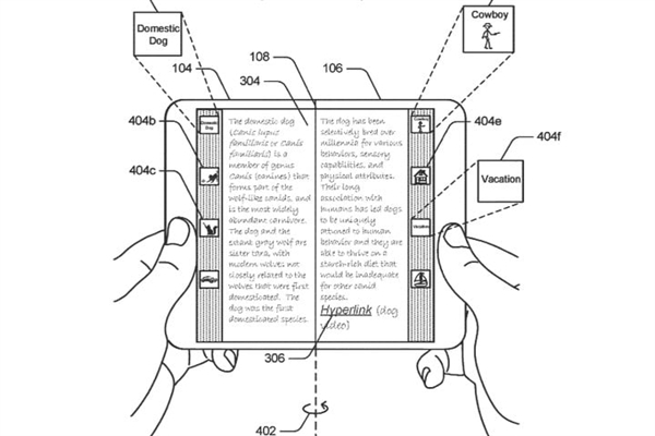 Microsoft foldable hinge design display