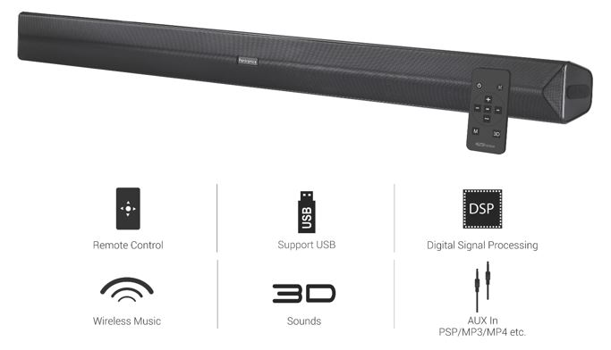 Portronics Sound Slick II Multimedia Soundbar