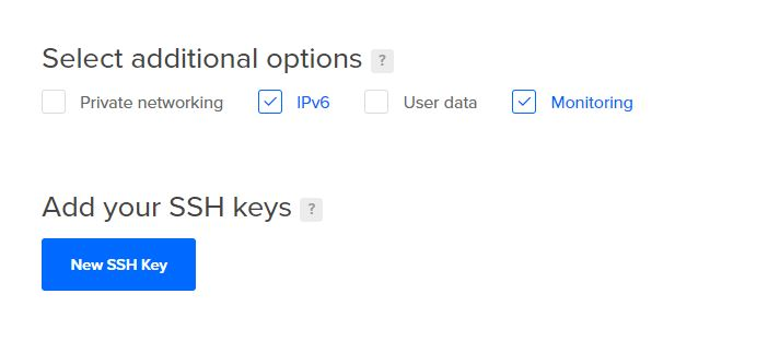 Select addtional options