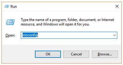 msconfif Windows 10