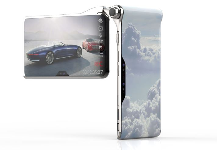 three display smartphone Turing spcae hubblephone