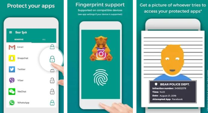 App Lock Locker fingerprint, Parental Control