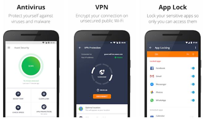 Avast Mobile Security 2018 – Antivirus & App Lock