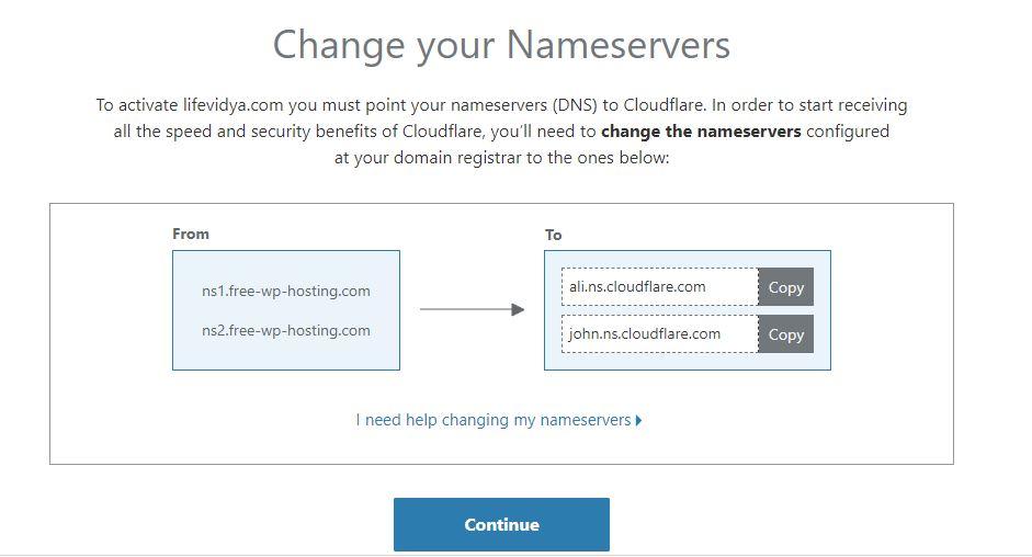Change your nameserver