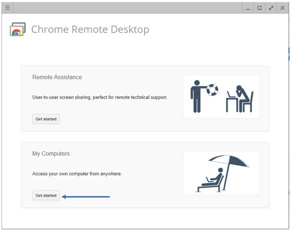 Chrome Remtoe Desktop connection