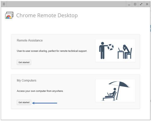 Chrome Remtoe Desktop connection