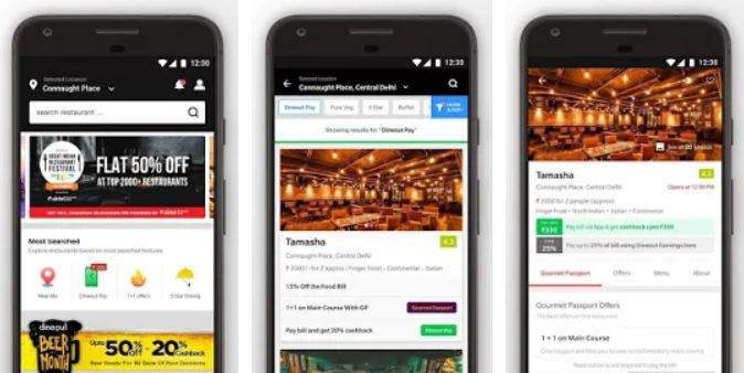 Dineout foodie app Booking, Reviews & Food Deals