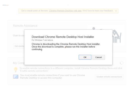 Download chrome desktop host installer remote controller